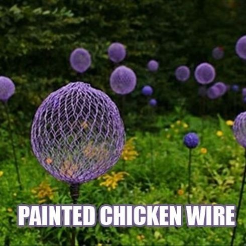 creative garden ideas using chicken wire