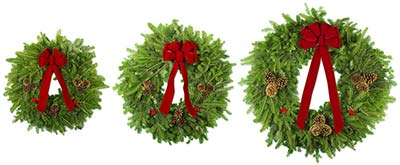 Holiday Wreath Fundraiser Examples of Traditional Wreath