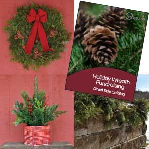 image of three rivers holiday wreath fundraising catalog